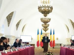 Întâlnirea tinerilor cu preşedintele Klaus Iohannis. Foto: www.presidency