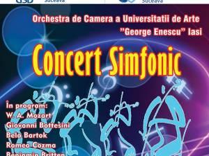 """Concert simfonic, astăzi, la Universitatea """"Ştefan cel Mare"""""""
