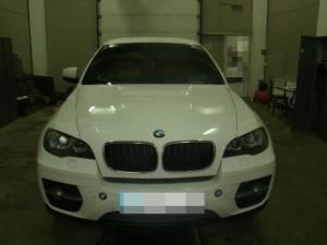 BMW X6 furat din Olanda, depistat în PTF Siret
