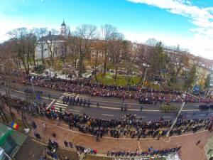 Mii de suceveni au participat şi anul acesta la parada militară de Ziua Naţională