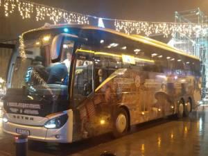 """Noul autocar al Ansamblului """"Ciprian Porumbescu"""""""