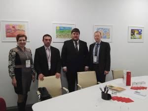 Tudor Afanasov (al doilea din dreapta), la evenimentul economic de la Moscova