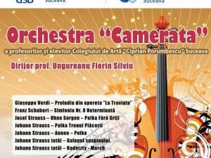 """Orchestra """"Camerata"""" a Colegiului de Artă Suceava, pe scena Universităţii """"Ştefan cel Mare"""""""