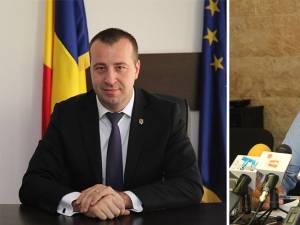 Viceprimarii Lucian Harşovschi şi Ovidiu Doroftei, iniţiatorii proiectului