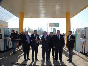 Inaugurarea benzinăriei de la Frasin