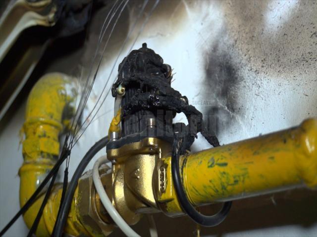 Electrovalva care a făcut scurtcircuit şi a declanşat incendiul