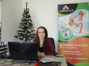 """Ioana Cîmpanu, studentă şi manager """"Campion Tour"""""""