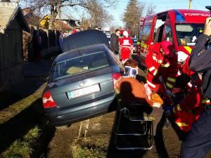 Accidentul petrecut ieri la Ipoteşti în urma căruia a fost rănită o femeie