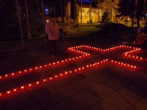 """Crucea de lumânări """"Lumină pentru libertate"""""""