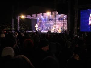 """Fascinant spectacol de artificii la """"Revelionul în aer liber""""organizat de Primăria Suceava"""
