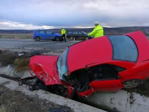 Femeia din maşina Audi, de culoare roşie, nu a mai putut fi salvată