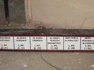 Indicator panou comandă în buncărul de la hotelul Bucovina