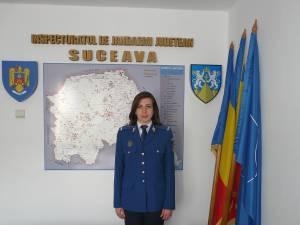Sublocotenent Nicoleta Turculeţ, noul purtător de cuvânt al Jandarmeriei Suceava