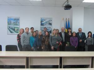 Cursanți ai Lectoratului de limba română de la Universitatea din Cernăuți, la USV