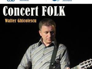 Concert de folk cu Walter Ghicolescu la USV