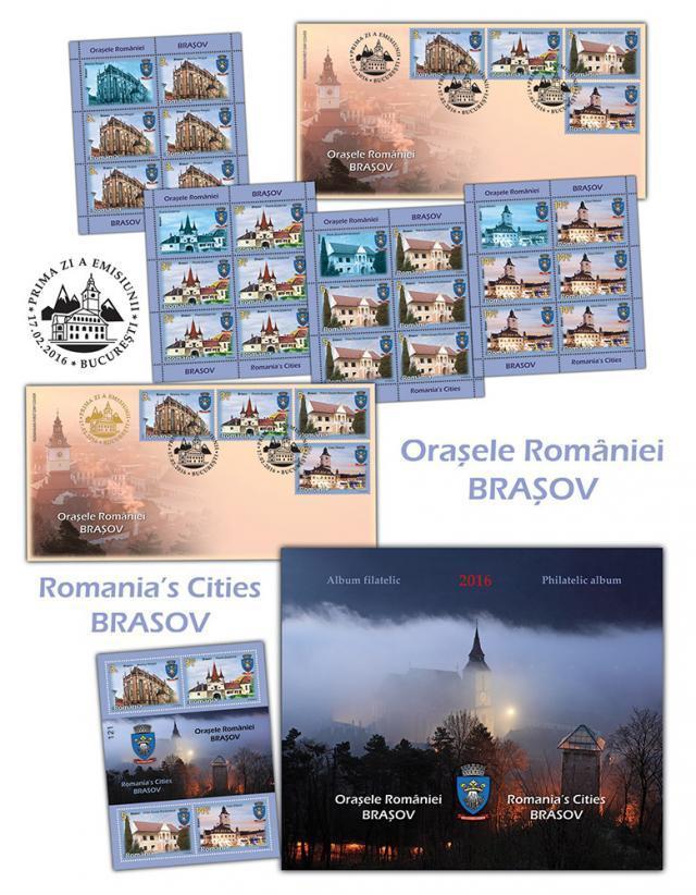 """Emisiunea de mărci poştale """"Oraşele României - Braşov"""""""