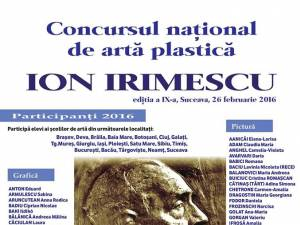 """Vernisajul expoziţiei cu lucrările participanţilor la Concursul naţional de artă plastică """"Ion Irimescu"""""""