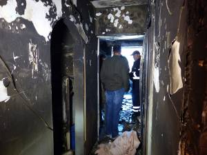 Garsoniera incendiată