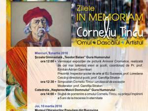 """Zilele """"In Memoriam Corneliu Tincu. Omul, Dascălul, Artistul"""""""