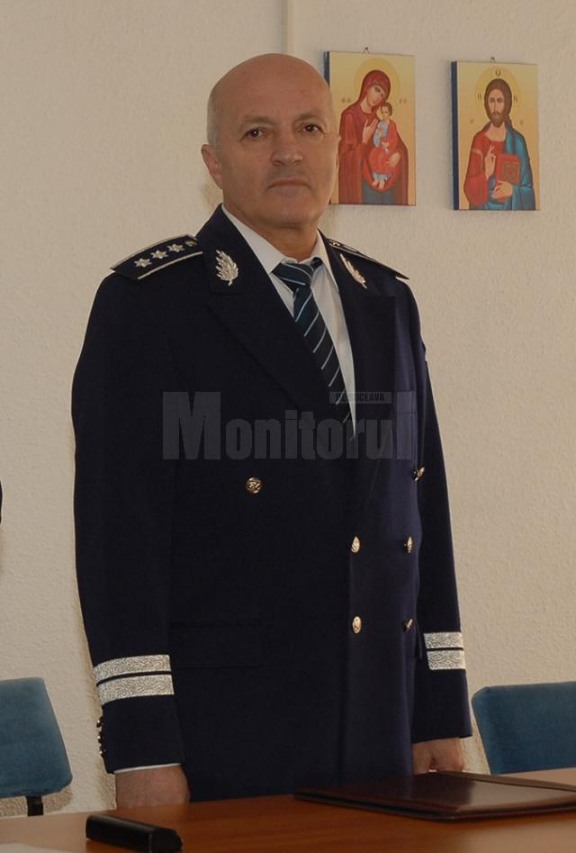 Comisarul-şef Viorel Onea, şeful Inspectoratului de Poliţie al Judeţului (IPJ) Suceava, se pensionează