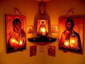 Altarul casei. Foto: ganduridinierusalim com