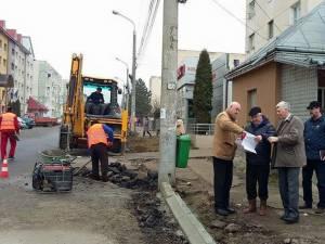 Lucrările de modernizare a străzii Jean Bart, din zona Gării Burdujeni