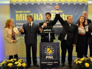 Candidatul PNL la funcţia de primar al municipiului Fălticeni, Vasile Liviu Mihăilă, a fost lansat sâmbătă, 12 martie