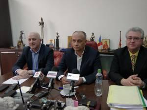 Alexandru Băişanu alături de Ovidiu Milici şi Ovidiu Şvarţ