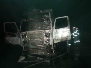 Autotren cuprins de flăcări