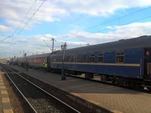 Garnitura de tren, la prima sosire la Suceava, pe 19 martie