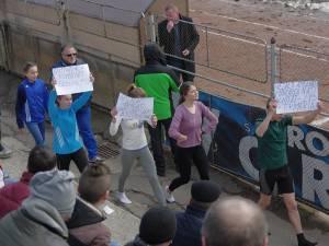 Protest inedit pe stadionul Areni