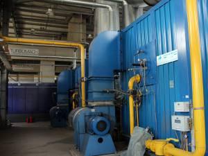 Instalaţii din interiorul centralei de cogenerare din Rădăuţi