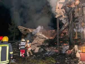 Biserica din Burla, distrusă de un puternic incendiu