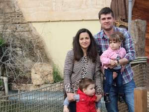 Andrei Bidu cu familia