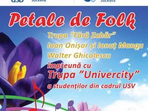 Concert cu Walter Ghicolescu, Ioan Onișor şi Fără Zahăr, astăzi, la Suceava