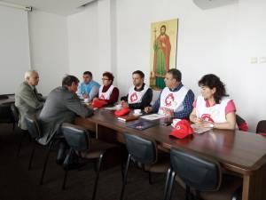Sindicalişti SANITAS la întâlnirea cu subprefectul Atanasă Nistor