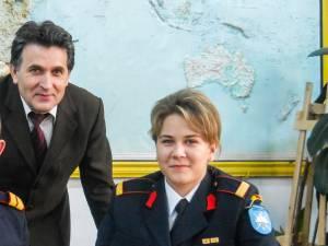 Sabina Calisevici, alături de profesorul Radu Ciumaşu