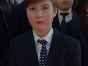 """Eduard Dumitrescul, elev în clasa a VI-a la Colegiul Naţional """"Ştefan cel Mare""""  Suceava"""