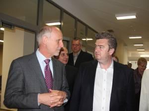 Ambasadorul Austriei şi preşedintele Consiliului Judeţean Suceava, Cătălin Nechifor