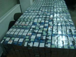 Au fost descoperite 14.500 de pachete de ţigări ucrainene de contrabandă