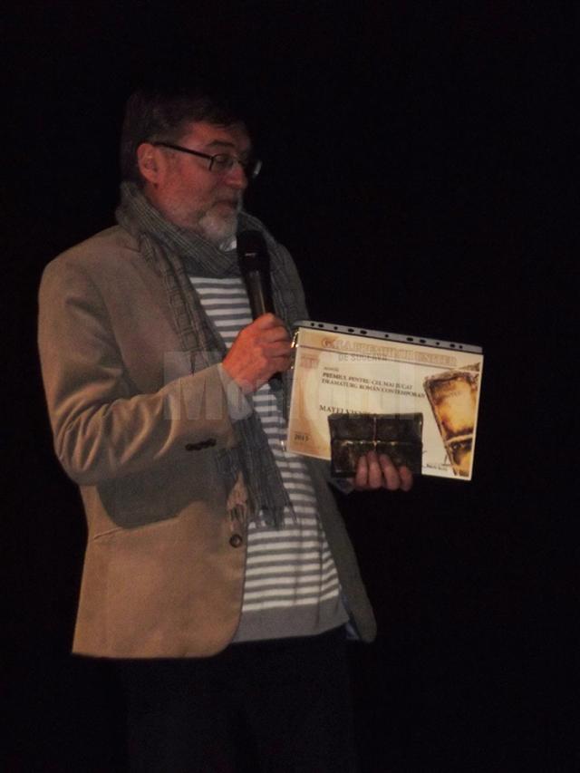 Matei Vişniec a primit Premiul UNITER pe scena teatrului care-i poartă numele