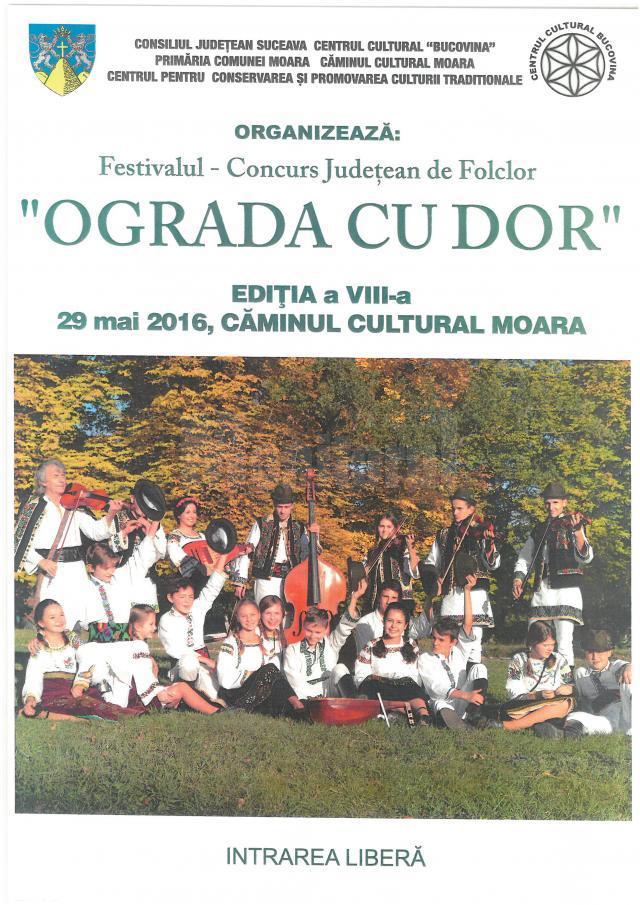 """Festivalul-concurs judeţean de folclor """"Ograda cu dor"""", la Moara"""