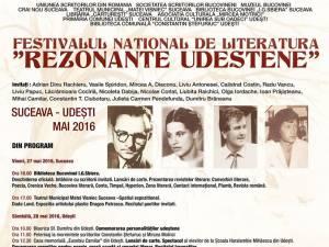 """Festivalul Naţional de Literatură """"Rezonanţe Udeştene"""""""