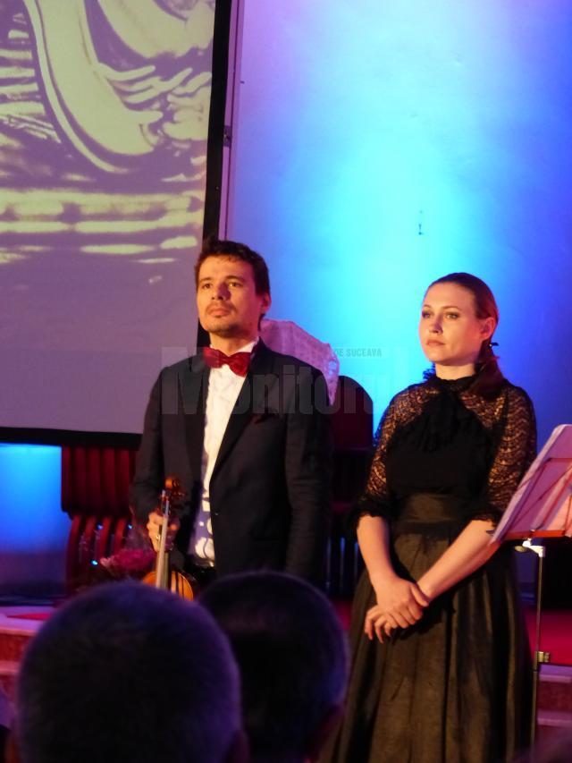 Violonistul Alexandru Tomescu şi pictoriţa Ana Munteanu