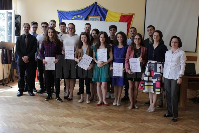 """Diplome de cunoaştere a limbii germane, pentru elevi ai Colegiului """"Petru Rareş"""""""