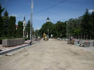 Modernizarea străzii din faţa DNA, sistată pentru că Guvernul n-a virat banii pentru lucrările executate