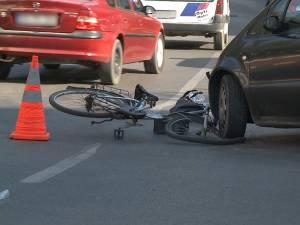 Patru biciclişti au fost implicaţi în accidente rutiere, în aceeaşi zi