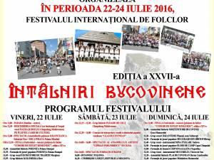 """Festivalul Internațional de Folclor """"Întâlniri Bucovinene"""""""