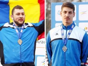 Andrei Gag (stânga) și Alin Firfirică au reuși în total cinci medalii la naționalele de tineret și seniori