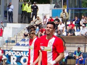 Andrei Burcă, într-un meci pe Areni cu Rapid CFR